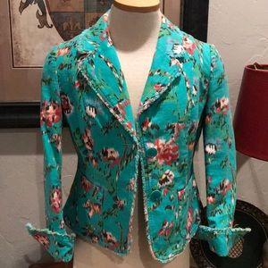 Harold's hip length linen & cotton blazer VTG